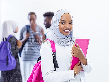 portrait of african female student with