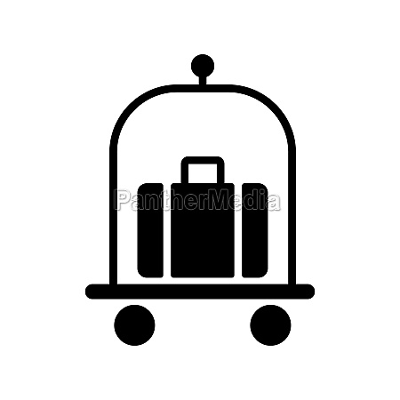 baggage luggage suitcases on trolley vector