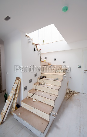 work in progress on stylish interior