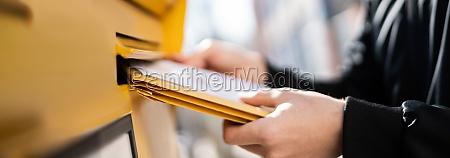 letter in envelope or document in