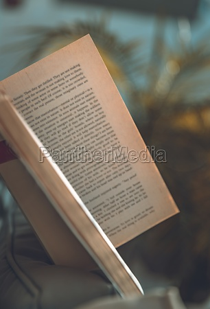 peaceful day with book