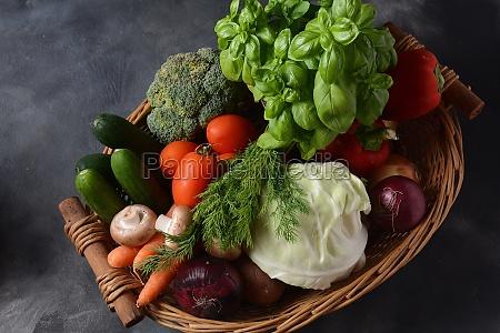 assortment of fresh vegetables healthy food