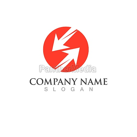 arrow faster logo vector illustration icon