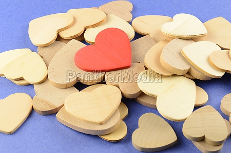 red wood heart