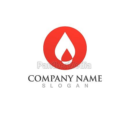 blood drop logo vector illustration