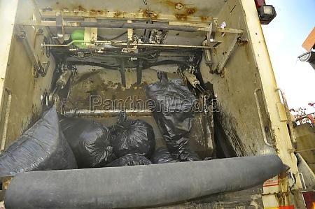 trash bag or garbage bag
