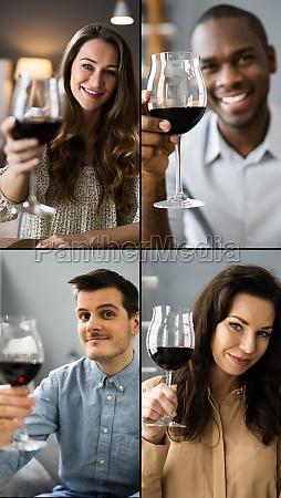 virtual wine tasting dinner video conference