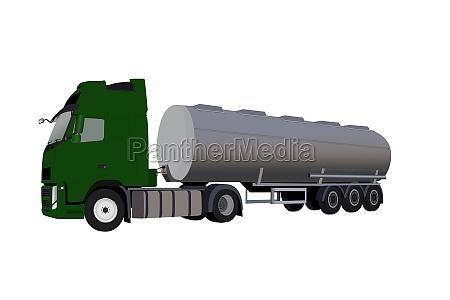 illustration of tank truck isolated on