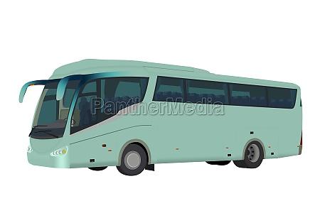 tourist bus tour bus isolated