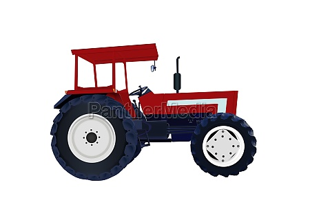 tractor icon vector isolated on white