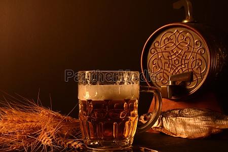 beer mug and wheat and dried