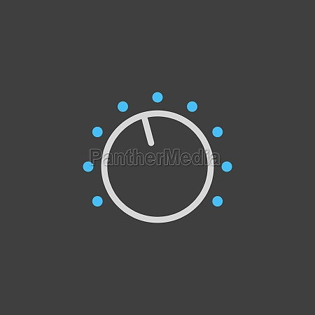 volume knob vector flat icon on