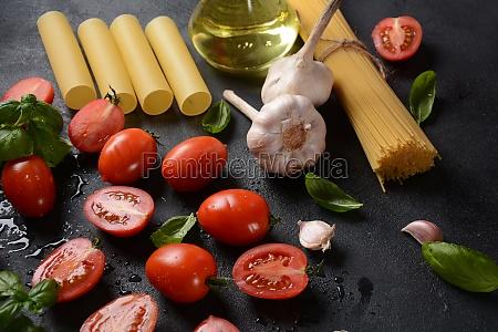 beautiful tasty colorful pattern of italian