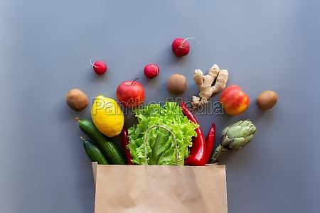 healthy and organic food flay lay