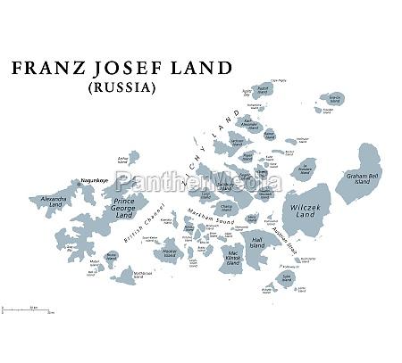 franz josef land russian archipelago in