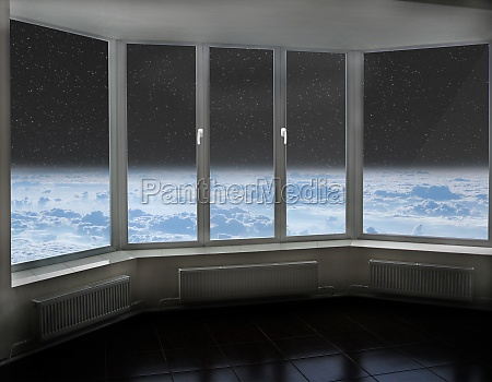 room window with view to space