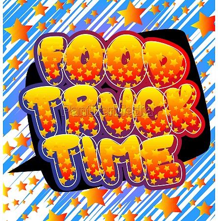 food truck time comic book