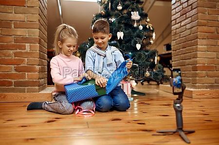 children bloggers blog at christmas tree