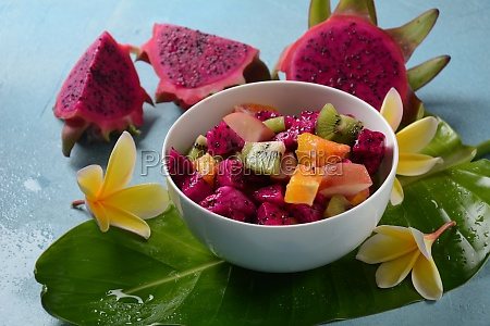 dragon fruit pitaya pitahayasliced pieces pitahaya