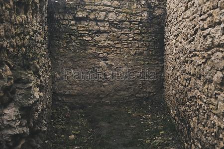 detail of castle walls