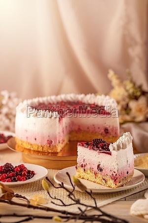 creamy yoghurt fruit cake