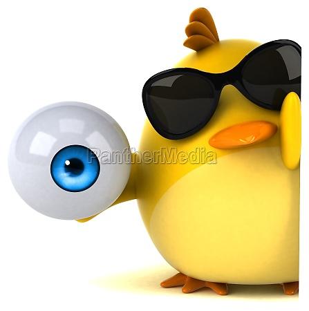 yellow bird 3d illustration
