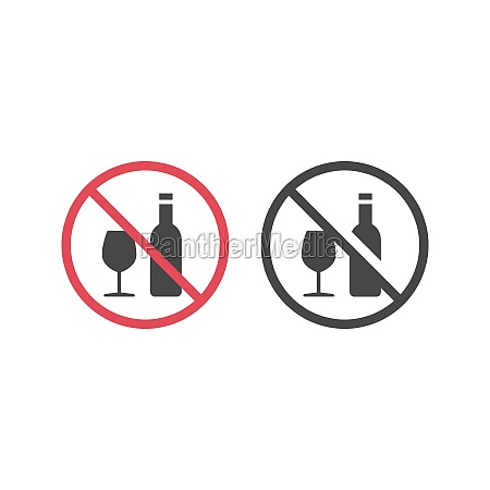 no alcohol red prohibition vector sign