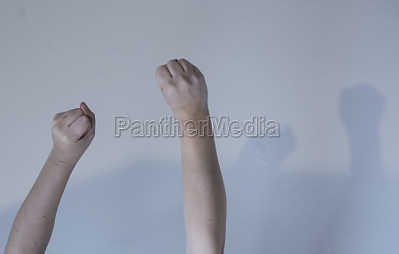 violence with a fist punch