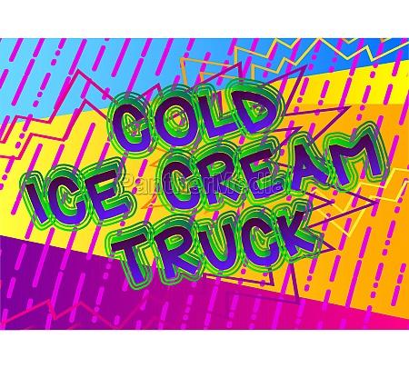 cold ice cream truck comic
