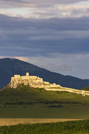 ruin of spissky castle in slovakia