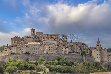 anghiari medieval village arezzo tuscany italy