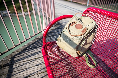 adventure concept vintage backpack on a