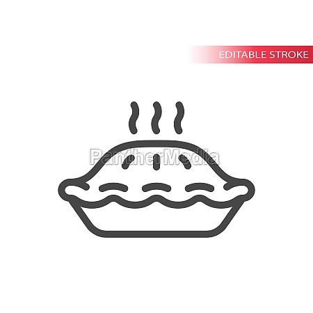hot pie line vector icon
