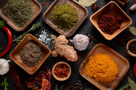 variety of spices and herbs on