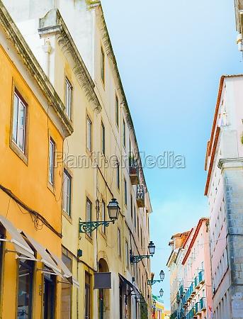 old town street lisbon portugal