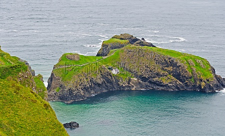 remote island on a cloudy coast