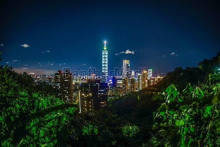 taipei night view seen from the
