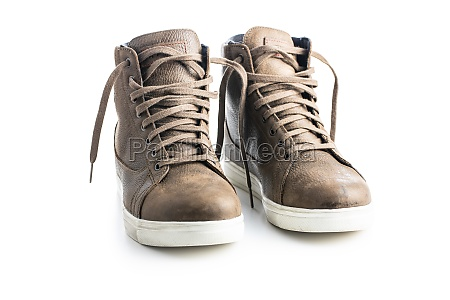 street motorcycle leather shoes