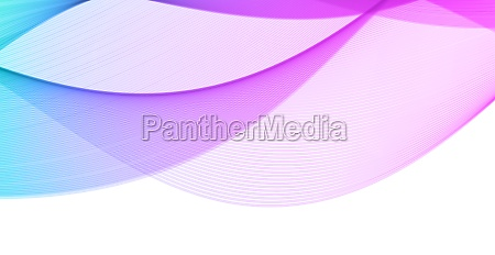 abstract blue wavy lines on white