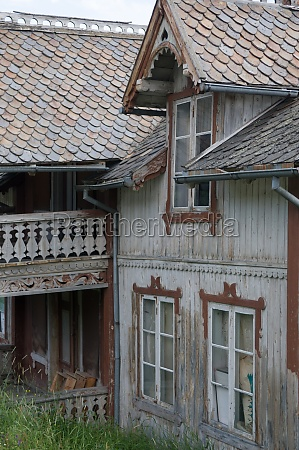 historic dilapidated wooden house in romsdal