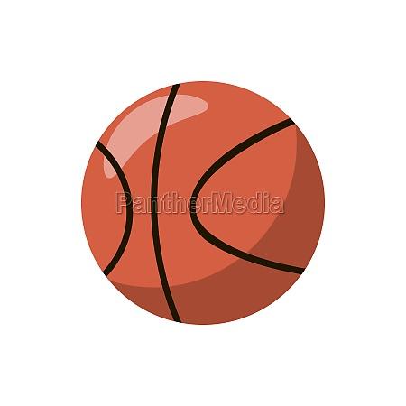 basketball ball icon cartoon style
