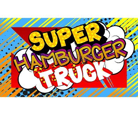 super hamburger truck comic book