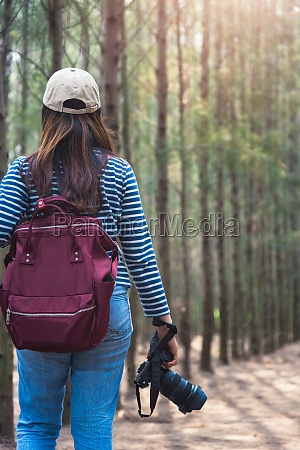 young female lifestyle photographer travel