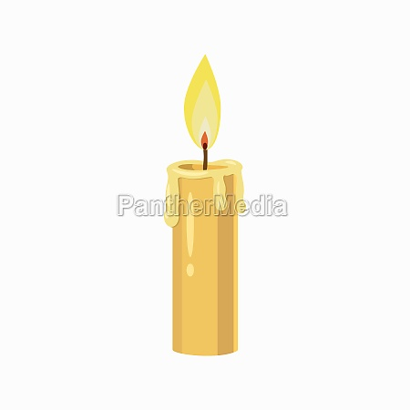 candle icon cartoon style