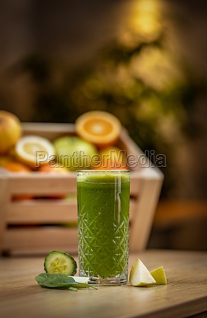 healthy cucumber spinach and apple juice