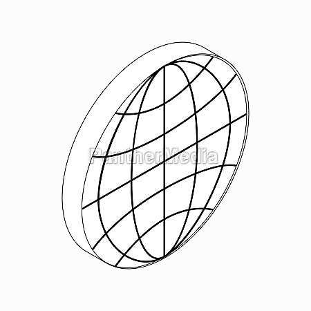 earth globe emblem icon isometric 3d