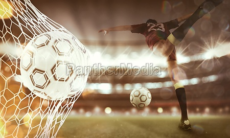 background of a soccer ball scores