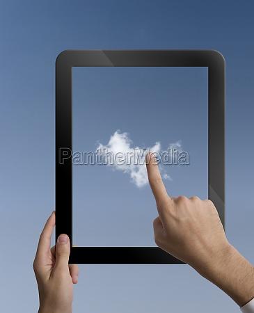 virtual cloud computing concept
