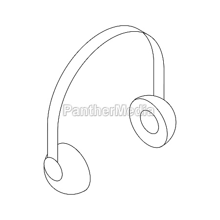 headphone icon isometric 3d style