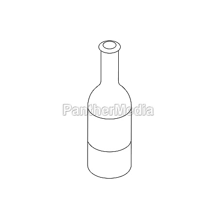 beer bottle icon isometric 3d style